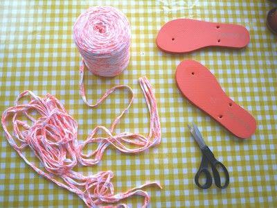 How to make a sandal / flip flop. Braided Flip Flops - Step 3