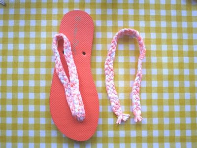 b0ded4ff8eb76 Braided Flip Flops · How To Make A Sandal   Flip Flop · Other on Cut ...