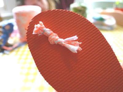 How to make a sandal / flip flop. Braided Flip Flops - Step 18