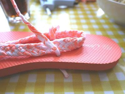 How to make a sandal / flip flop. Braided Flip Flops - Step 21