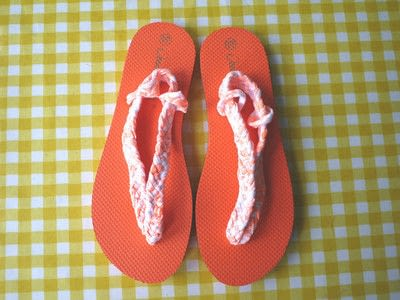 How to make a sandal / flip flop. Braided Flip Flops - Step 23