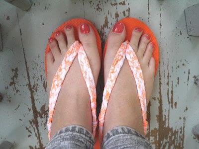 How to make a sandal / flip flop. Braided Flip Flops - Step 24