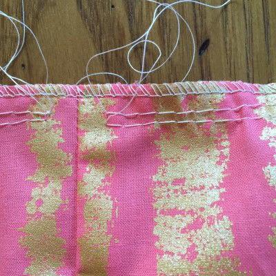 How to sew a pleated skirt. The Sparkle Skirt - Step 2