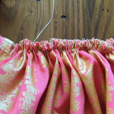 How to sew a pleated skirt. The Sparkle Skirt - Step 5