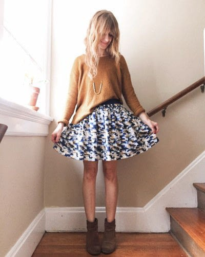 How to sew a pleated skirt. The Sparkle Skirt - Step 7