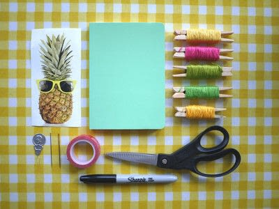 How to make a notebook journal. Embroidered Notebooks - Step 1