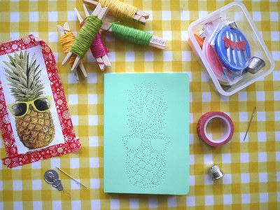 How to make a notebook journal. Embroidered Notebooks - Step 5