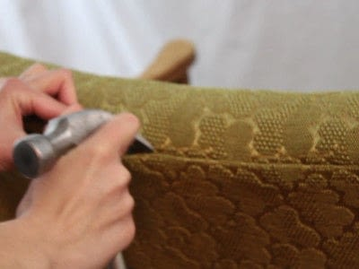 How to make a chair. Faux Seal Skin Chair - Step 1
