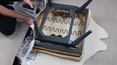 How to make a chair. Faux Seal Skin Chair - Step 4