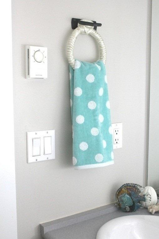 nautical hand towel holder  u00b7 how to make a bathroom