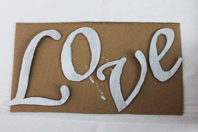 How to make a plaque / sign. Love Sign - Step 2
