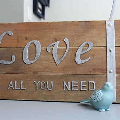 How to make a plaque / sign. Love Sign - Step 4