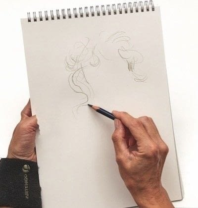 How to make a drawing. How To Draw Hair - Step 2