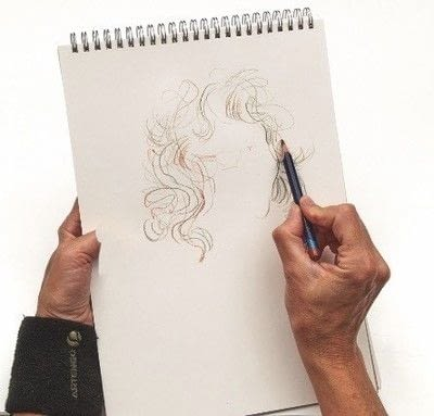 How to make a drawing. How To Draw Hair - Step 3