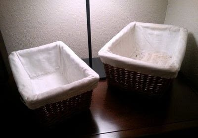 How to sew a fabric basket. No Sew Basket Liner - Step 1