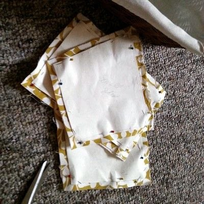 How to sew a fabric basket. No Sew Basket Liner - Step 6