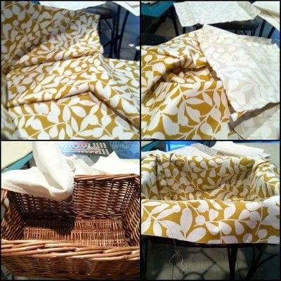 How to sew a fabric basket. No Sew Basket Liner - Step 8