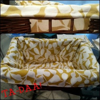 How to sew a fabric basket. No Sew Basket Liner - Step 9