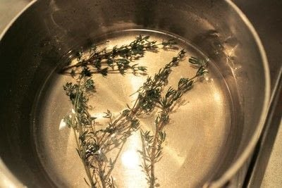 How to make a syrup. Homemade Thyme Syrup - Step 3
