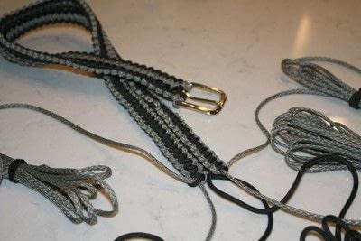 How to braid a braided belt. Paracord Belt - Step 5