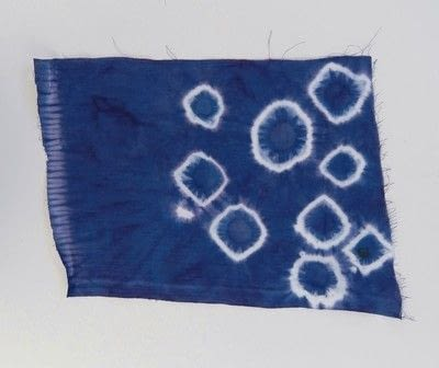 How to make a dyeing. 10 Shibori Swatches - Step 2