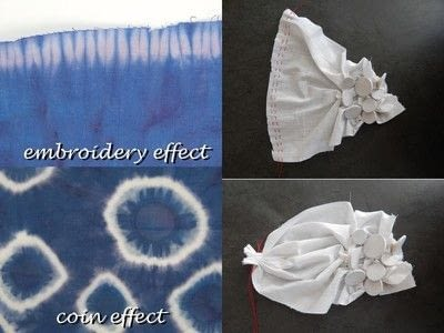 How to make a dyeing. 10 Shibori Swatches - Step 3