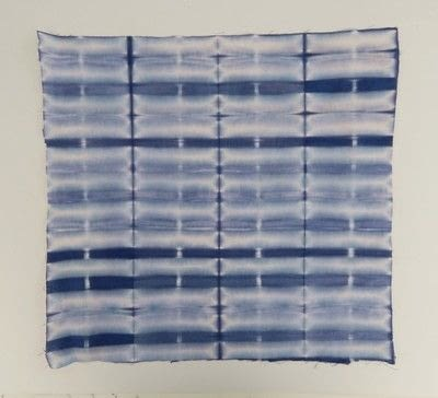 How to make a dyeing. 10 Shibori Swatches - Step 4