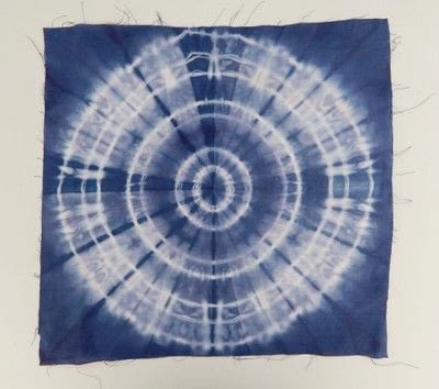 How to make a dyeing. 10 Shibori Swatches - Step 6