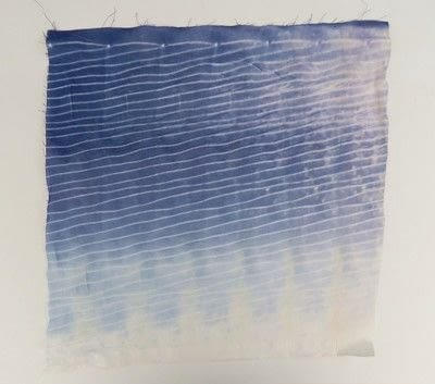 How to make a dyeing. 10 Shibori Swatches - Step 14
