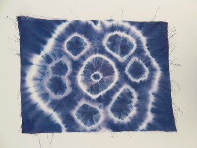 How to make a dyeing. 10 Shibori Swatches - Step 16