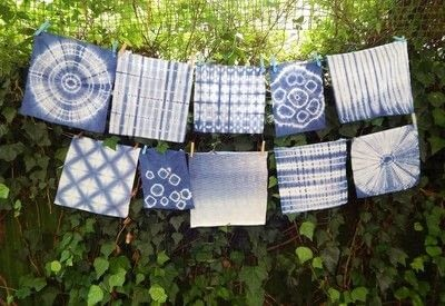 How to make a dyeing. 10 Shibori Swatches - Step 23