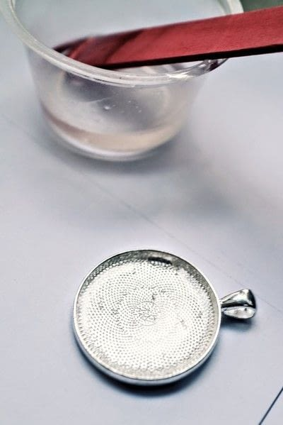 How to make a resin pendant. Lucky Charms Jewellery - Step 4