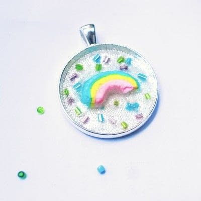 How to make a resin pendant. Lucky Charms Jewellery - Step 7