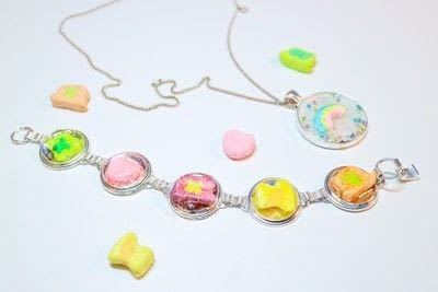 How to make a resin pendant. Lucky Charms Jewellery - Step 9