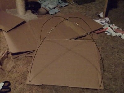 How to make a pet toy. Cat Tent - Step 3