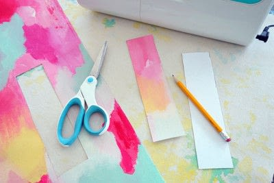 How to make a bookmark. Artsy Canvas Bookmark - Step 1