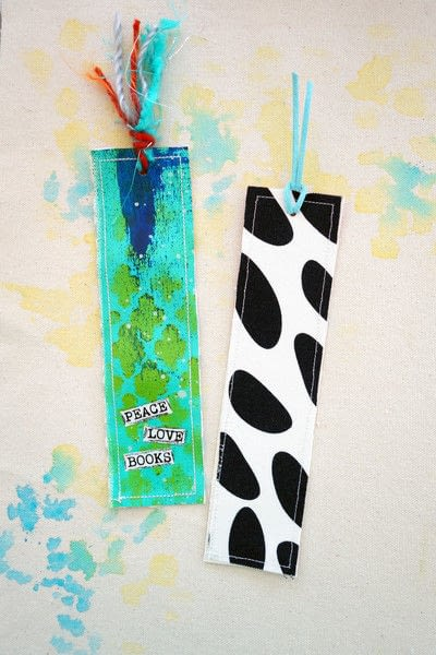 How to make a bookmark. Artsy Canvas Bookmark - Step 4