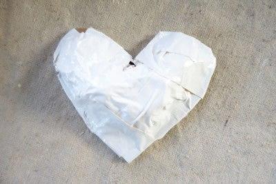 How to make a papier mache model. Paper Mache Heart - Step 3