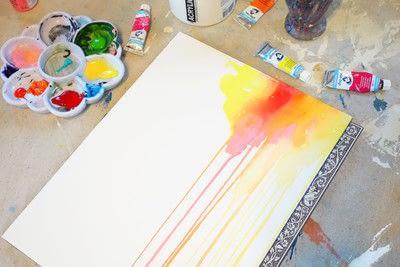 How to paint a piece of watercolor art. Watercolor & Pen Portrait - Step 1