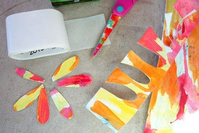How to make a paper flower. Freestanding Watercolor Flower - Step 2