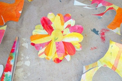 How to make a paper flower. Freestanding Watercolor Flower - Step 3