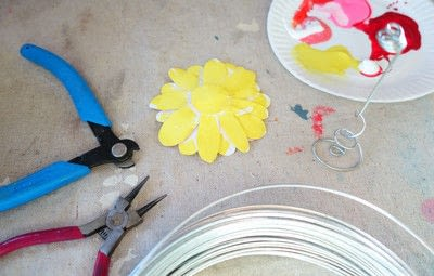 How to make a paper flower. Freestanding Watercolor Flower - Step 4