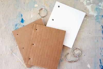How to make a notebook journal. Mini Cardboard Notebook - Step 1