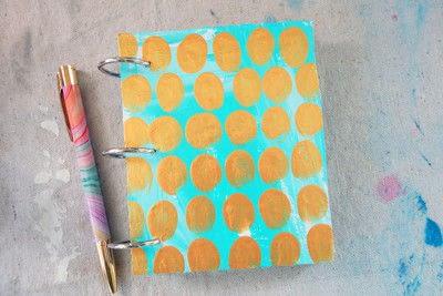 How to make a notebook journal. Mini Cardboard Notebook - Step 4