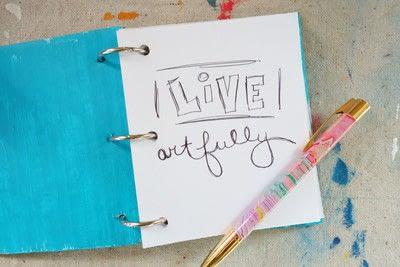 How to make a notebook journal. Mini Cardboard Notebook - Step 5