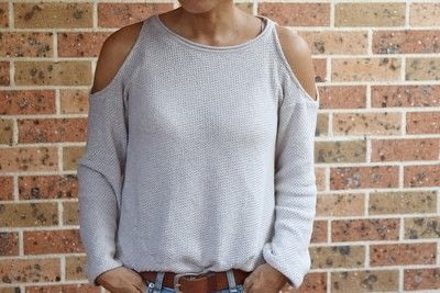 How to revamp a revamped sweater. Diy Cold Shoulder Sweater - Step 8