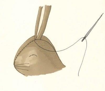 How to make rabbit plushie. Decorative Rabbits - Step 4