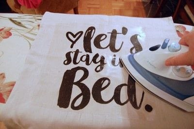 "How to make a pillow. Indigo Inspired ""Let's Stay In Bed"" Pillow Diy - Step 2"