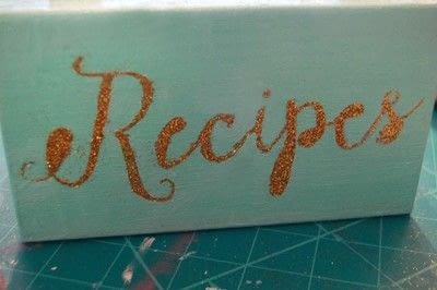 How to make a recipe holder. Make This Diy Recipe Box For A Simple Hostess Gift! - Step 6