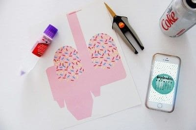 How to make an invitation card. Make This Printable Popsicle Box + Invite - Step 1